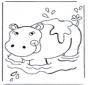 Hippopotame dans leau