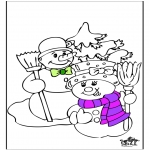 Coloriages hiver - Hiver 19