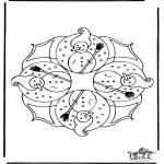 Coloriages hiver - Hiver - mandala 4