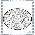 Coloriages hiver - Hiver - mandala