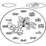 Bricolage coloriages - Horloge Bugs Bunny