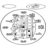 Bricolage coloriages - Horloge Cars