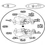 Bricolage coloriages - Horloge kangourou