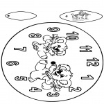 Bricolage coloriages - Horloge Koala