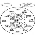 Bricolage coloriages - Horloge ragazzine des fragole