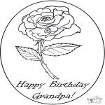 Bricolage coloriages - Hourra pour grand-père