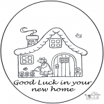 Bricolage coloriages - Hourra une maison nouvelle