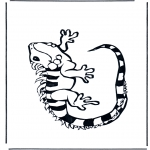 Coloriages d'animaux - Iguane