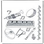 Coloriages faits divers - Instruments
