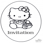 Bricolage coloriages - Invitation anniversaire