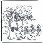 Coloriages faits divers - Jardinage