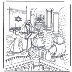 Coloriages Bible - Jésus dans le temple