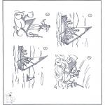 Coloriages Bible - Jésus dans l'orage