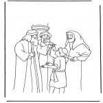 Coloriages Bible - Jésus dans sa douzième année
