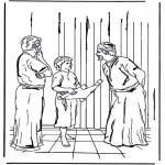 Coloriages Bible - Jésus de 12 ans