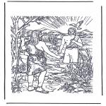 Coloriages Bible - Jésus est baptisé