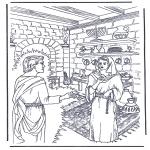 Coloriages Bible - Jésus est oindris