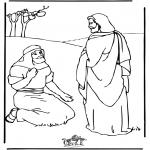 Coloriages Bible - Jésus guérit
