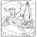 Coloriages Bible - Jésus sur le lac