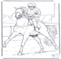 Jockey à cheval