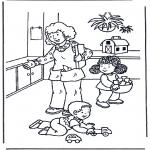 Coloriages pour enfants - Joue avec les jouets