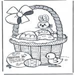 Coloriage thème - Joyeuses Pâques