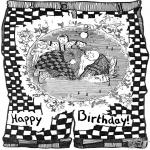 Coloriage thème - Joyeux anniversaire 1