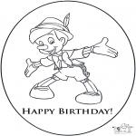 Coloriage thème - Joyeux anniversaire 3