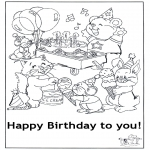 Coloriage thème - Joyeux anniversaire 6