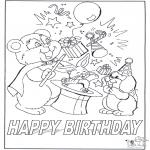 Coloriage thème - Joyeux anniversaire 7
