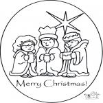 Coloriages Noël - Joyeux Noël 1