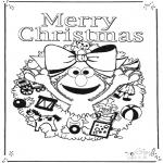 Coloriages pour enfants - Joyeux Noël '1, rue Sésame'