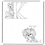 Coloriages faits divers - K et L