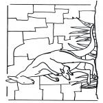 Coloriages d'animaux - Kangourou 1