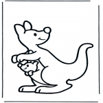 Coloriages d'animaux - Kangourou 2
