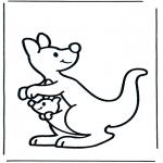 Coloriages pour enfants - Kangourou pour les petits
