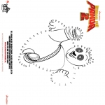 Personnages de bande dessinée - Kung Fu Panda 2 - Points à relier 1