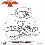 Personnages de bande dessinée - Kung Fu Panda 2 - Points à relier 3