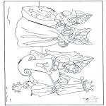 Coloriages faits divers - La Belle au bois dormant avec les fées
