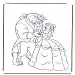 Personnages de bande dessinée - La Belle et la Bête 1