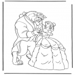 Personnages de bande dessinée - La Belle et la Bête 3