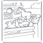 Coloriages d'animaux - La ferme