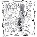 Coloriages pour enfants - La ferme pour enfants