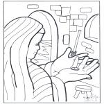 Coloriages Bible - La monnaie de la veuve