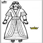 Coloriages Bible - La reine Esther 2