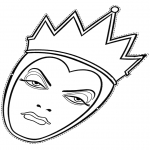Bricolage coloriages - La reine mauvaise