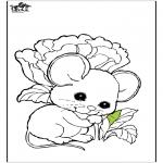 Coloriages d'animaux - la souris 1
