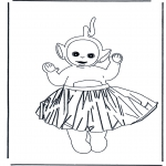 Coloriages pour enfants - Laa-laa en jupe