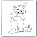 Coloriages pour enfants - Laa-laa et les lapins