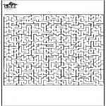 Bricolage coloriages - Labyrinthe 1